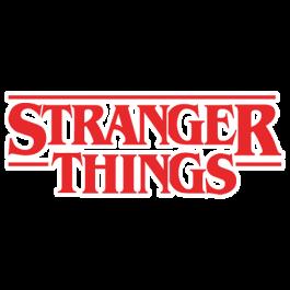 stranger things título pegatina