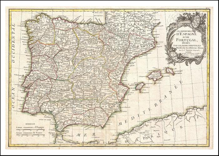 Mapa De España Antiguo.Mapa De Espana Antiguo