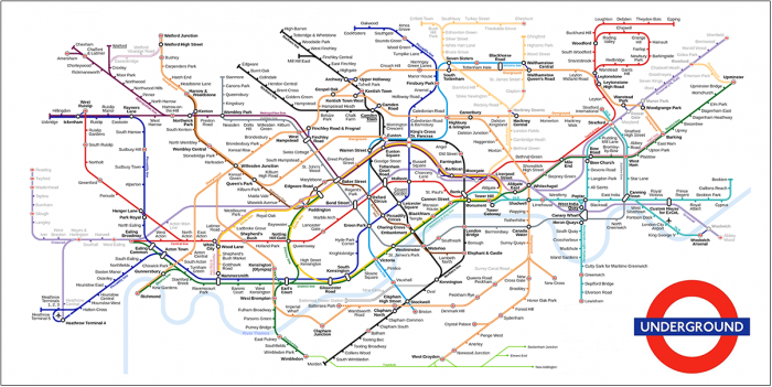 Mapa Metro De Londres.Mapa Del Metro De Londres