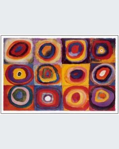Kandinsky Farbstudie Quadrate Gran Formato