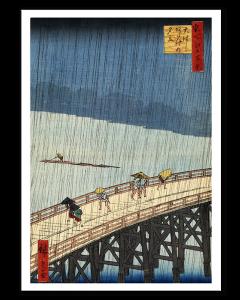 Hiroshige Lluvia del Sur