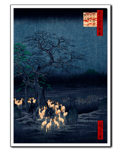 Hiroshige Foxfires Changing Tree