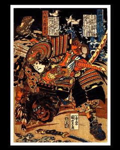 Kuniyoshi Yoshitada Luchando
