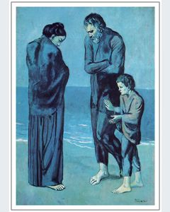 Picasso Mendigos junto al Mar