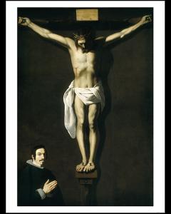 Zurbarán Cristo crucificado con Donante