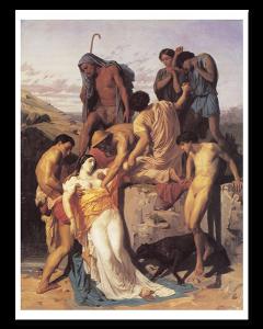 Bouguereau Zenobia y los Pastores