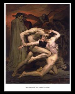 Bouguereau Dante y Virgilio en el Infierno