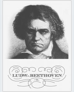Beethoven Naranja Mecánica Lámina