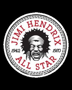 Pegatina Jimi Hendrix Star