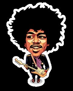 Pegatina Jimi Hendrix Guitar