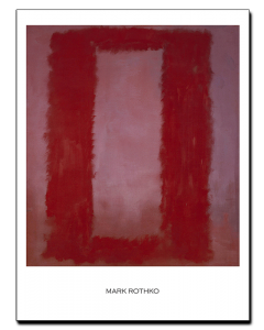 Mark Rothko Rojo sobre Granate