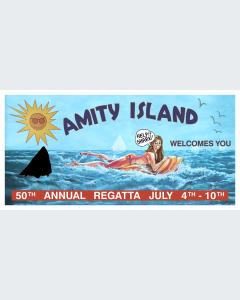 Tiburón Valla Publicitaria Amity Island